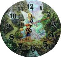 Guardian Angel Plate Clock Analog