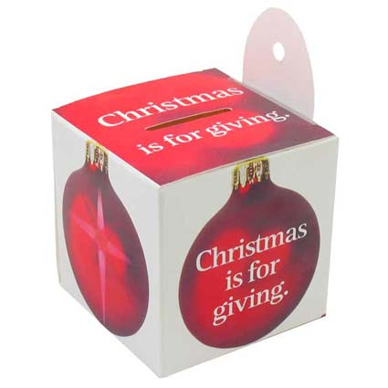 Christmas is for Giving Ornament Donation Box (Pkg of 50)