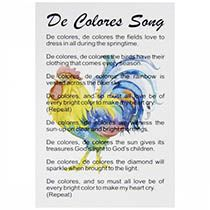 De Colores Song Pocket Cards (Pkg of 50)
