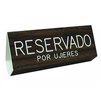 Spanish Reserved for Usher Pew Sign