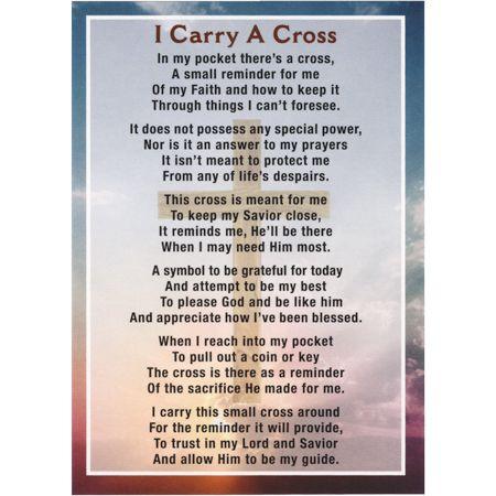 Cross in My Pocket Prayer Card