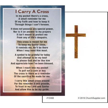 I Carry a Cross Pocket Card