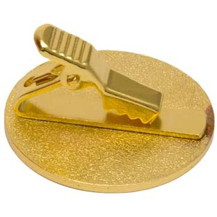 Gold Round Usher Pins with Tie Clip Back