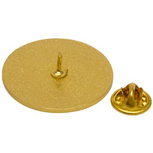 Gold Round Usher Pin with Pin Back