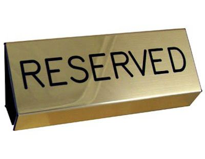 Brushed Gold Flexible Pew Signs