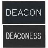 Deacon and Deaconess Black Magenetic Badge