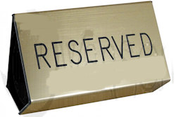 Gold Plastic Flexible Pew Signs