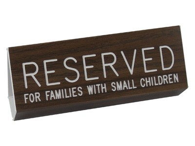 Reserved Pew Signs Walnut Grained (Pkg of 2)