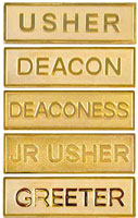 Usher Deacon Gold Pins W/ Safety Catch