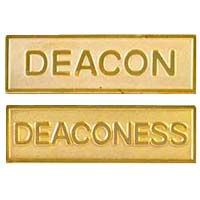 Gold Church Deacon Pins, Pin Backed