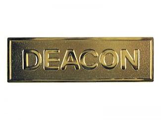 Gold Church Deacon Deaconess Pin Backed