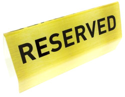 Reserved Gold Acrylic Flexible Pew Signs