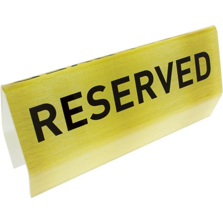 Reserve Gold Acrylic Flexible Pew Signs