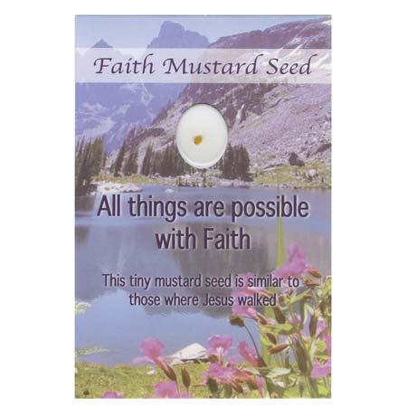 Faith Mustard Seed Pocket Card