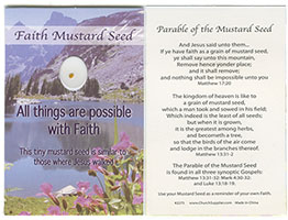 Faith Mustard Seed Pocket Card