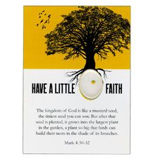 Have Little Faith Mustard Seed Pocket Card