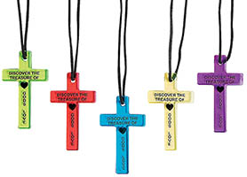 God Love Plastic Cross Necklace