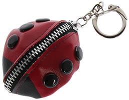 Ladybug Coin Purse Keychain