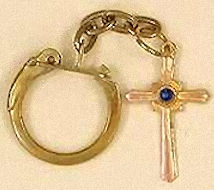 Bronze Cross Key Ring