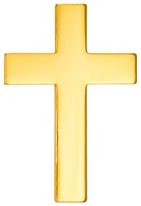 Quality Gold Plated Metal Pocket Cross