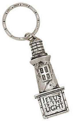 Jesus is the Light Lighthouse Keychain