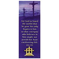 Easter Three Crosses Gold Pin & Bookmark