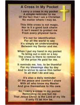 Cross in My Pocket Prayer Cards