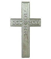 God Loves You Metal Pocket Cross
