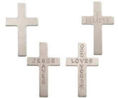 Pocket Crosses Metal Cheap Giveaway