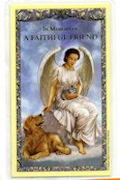 My Faithful Friend Holy Card Pet Dog