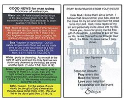 Pocket Card Colors Of Salvation (Pkg of 100)