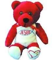 Jesus Stuffed Bear with Fish Logo