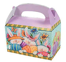 Easter Treat Boxes with Handle Cardboard (Pkg of 24)