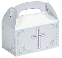Cross Treat Boxes with Handle Cardboard (Pkg of 24)