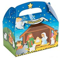 Spanish Nativity Treat Boxes Cardboard (Pkg of 24)