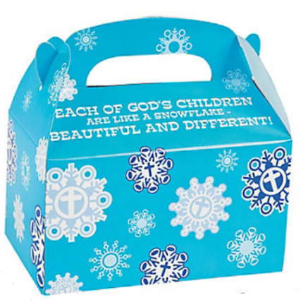 Snowflake Handle Treat Boxes (Pkg of 24)