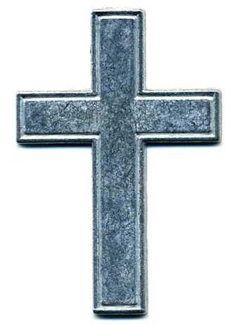 Metal Pocket Crosses Silver -Pkg of 10