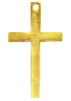 Gold Cross Metal w Hole (50 Pack)