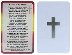 Cross in My Pocket Metal Prayer Card