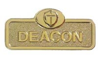 Deacon Gold Brass Magnetic  Badge