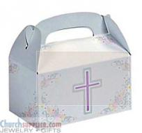 Cross Treat Boxes w Handle Cardboard