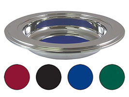 Church Offering Plate Stainless w/ 4 Pads