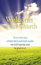 Welcome to our Church Pew Card (Pkg of 25)