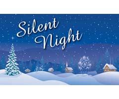 Silent Night Vinyl Banner
