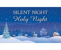 Silent Night, Holy Night Vinyl Banner