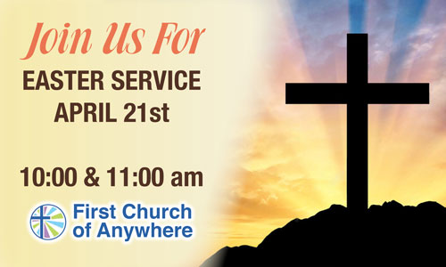 Custom Welcome Easter Service Outdoor Banner