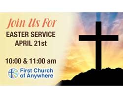 Custom Easter Service Outdoor Banner