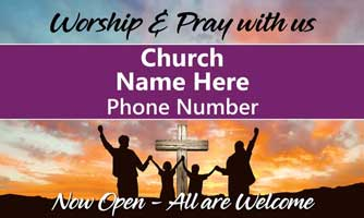 Welcome To Our Church Outdoor Banner