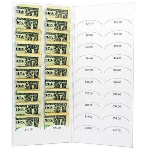 $40.00 Blank Dollar Bill Folder