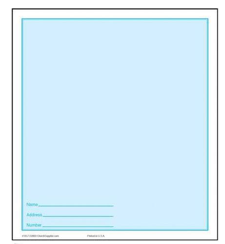 $40.00 Blank Dollar Bill Folder, (Pkg of 50)